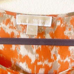 MICHAEL Michael Kors Tops - Michael Kors Orange Ikat blouse